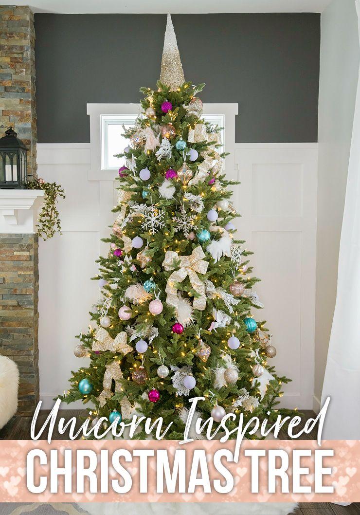 Unicorn Inspired Christmas Tree Decorating Idea Unicorn