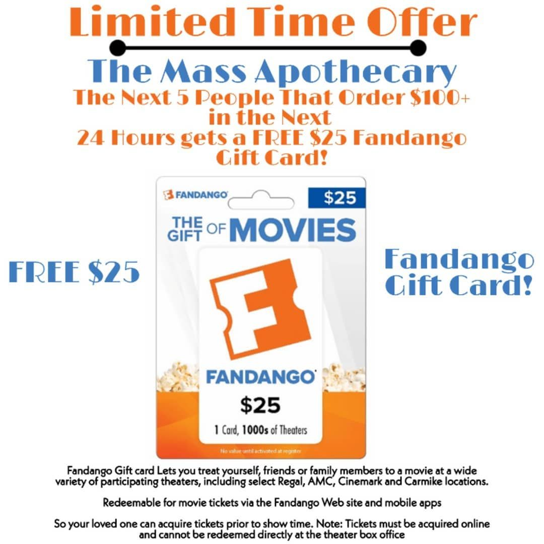 Limited Time Offer Free 25 Fandango Gift Card For The Next 5