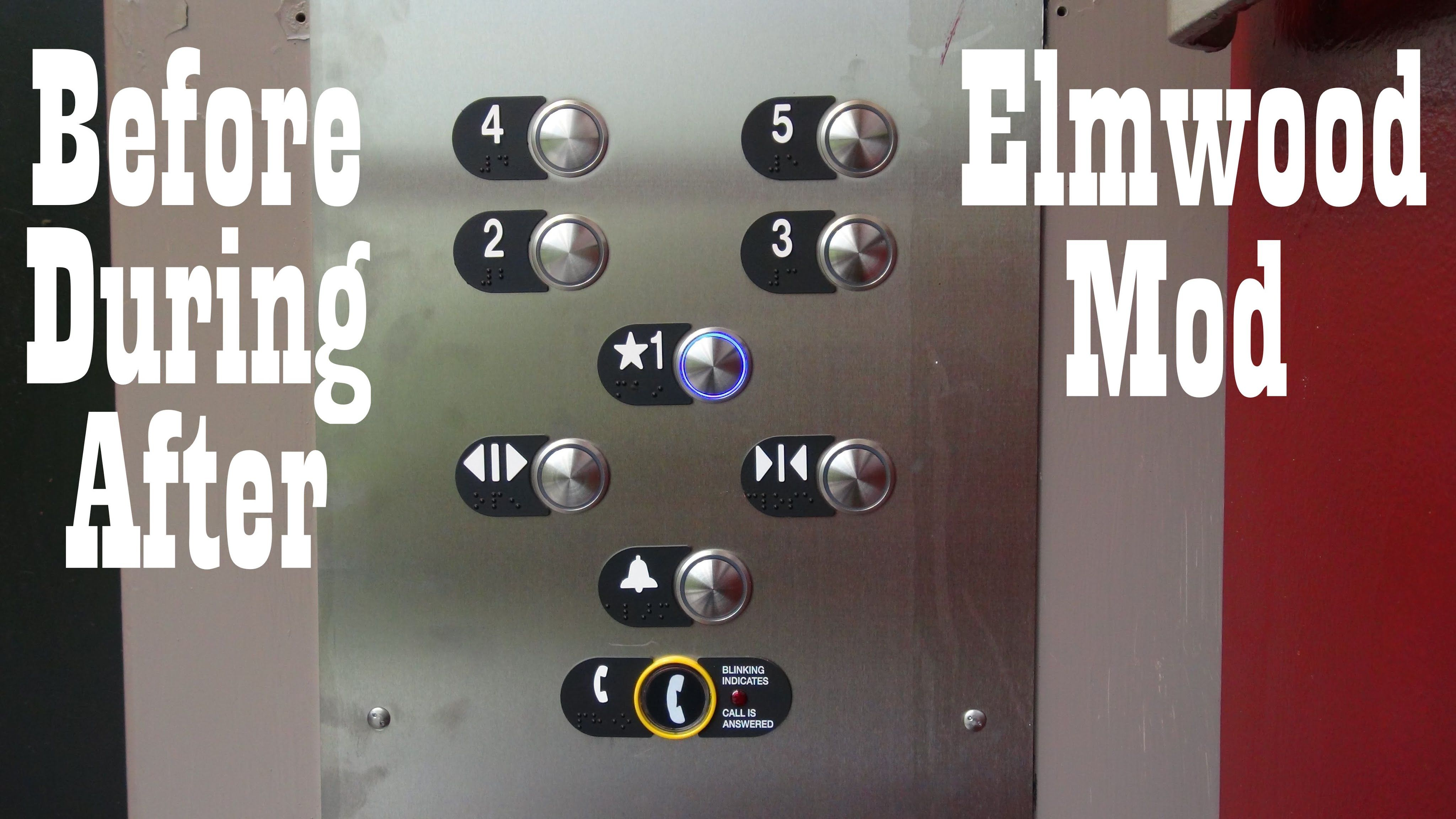 Elmwood park garage elevator before during and after the mod