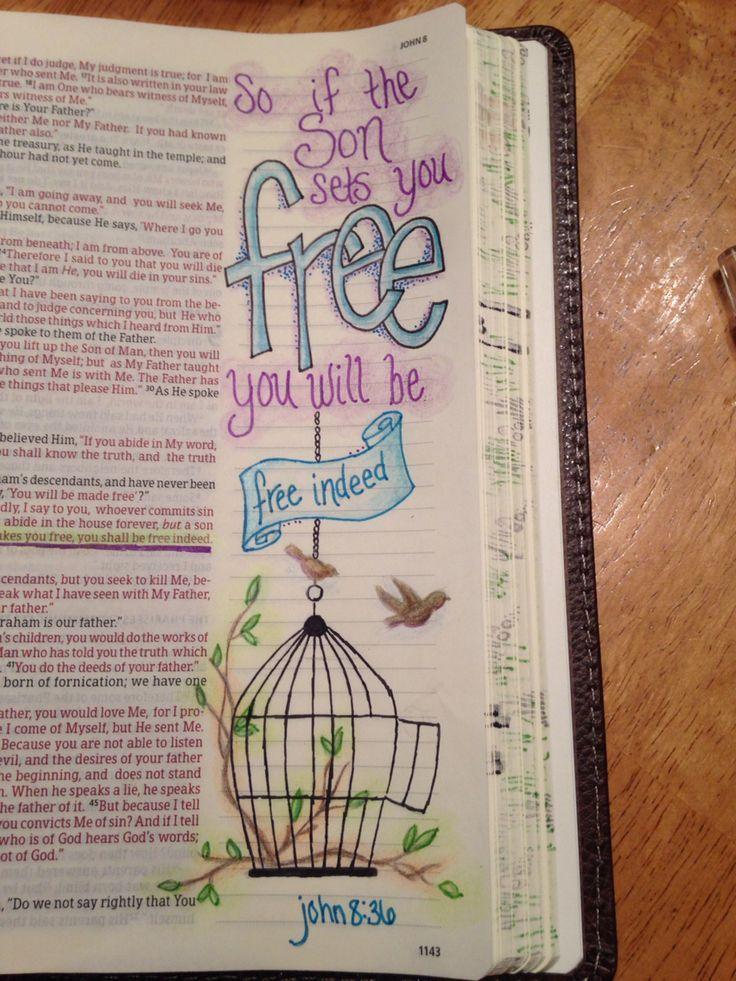 Bible journaling John 8 36