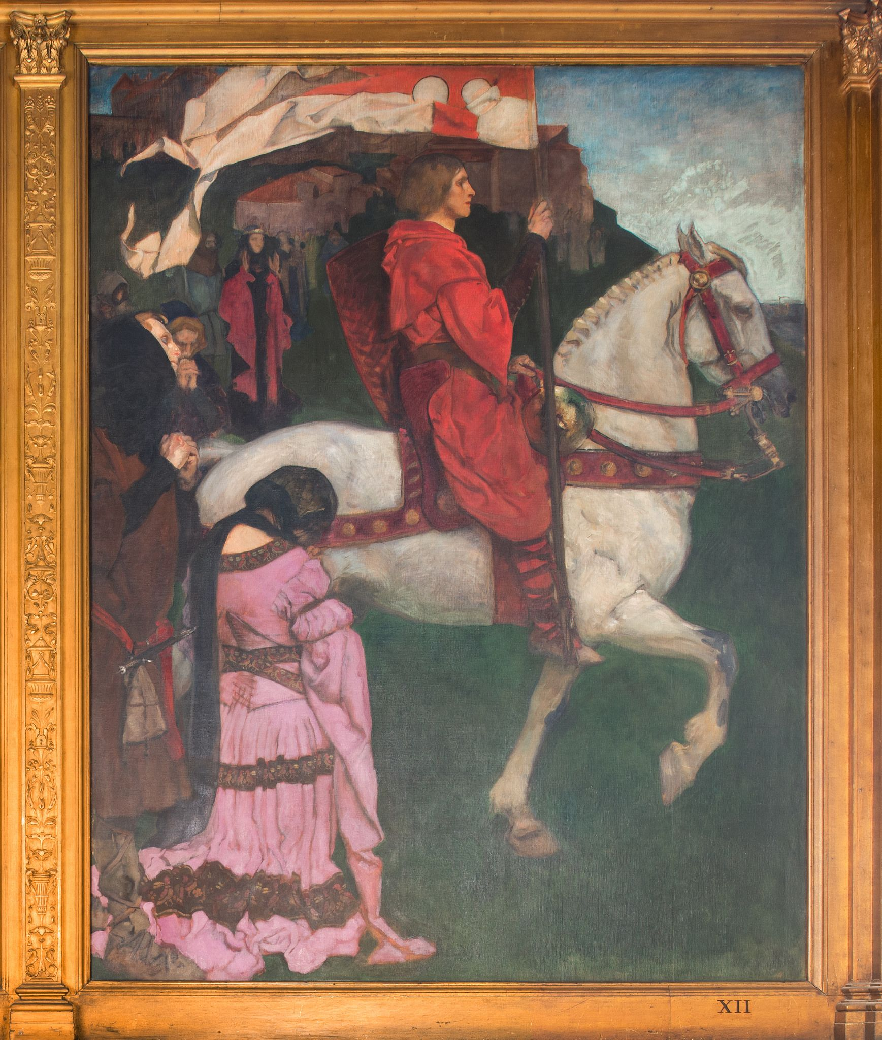 Xii Sir Galahad Passes From The Land Fairytale Art Fairytale Illustration King Arthur Legend
