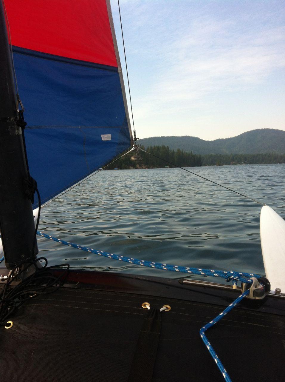 Hobie Cat 16. GWS Catamaran, Sailing, Airplane view