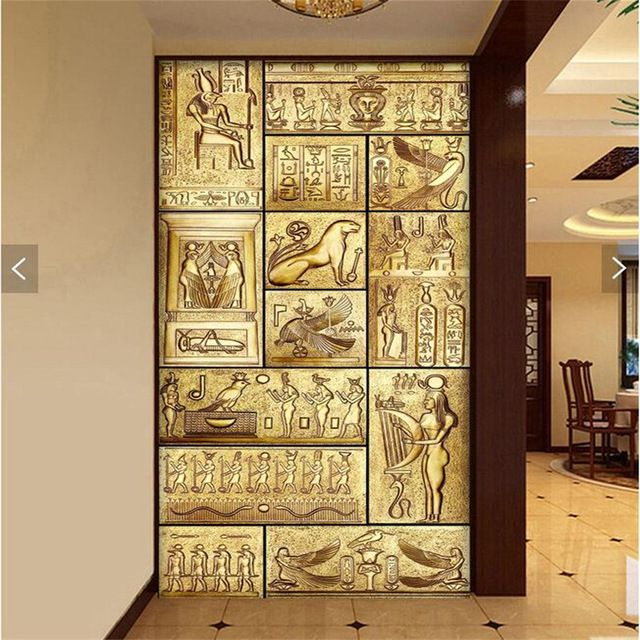 wall-paper-3d-art-mural-HD-beauty-of-ancient-Egyptian-culture ...