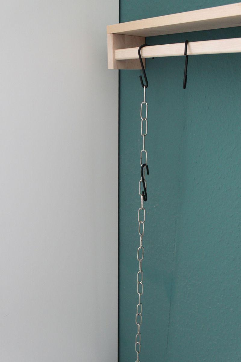 Kinderzimmer Blick Auf Die Garderobe Aus Ikea Gewürzregal Kette