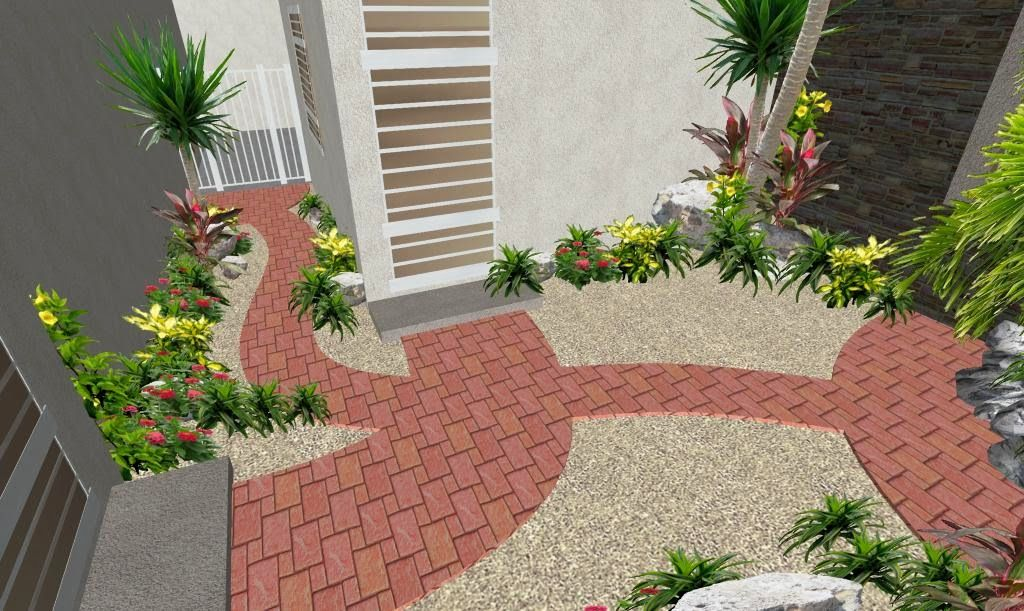 Dise os de patios con adoquines buscar con google floors walls and paths to a new life - Diseno de patios ...