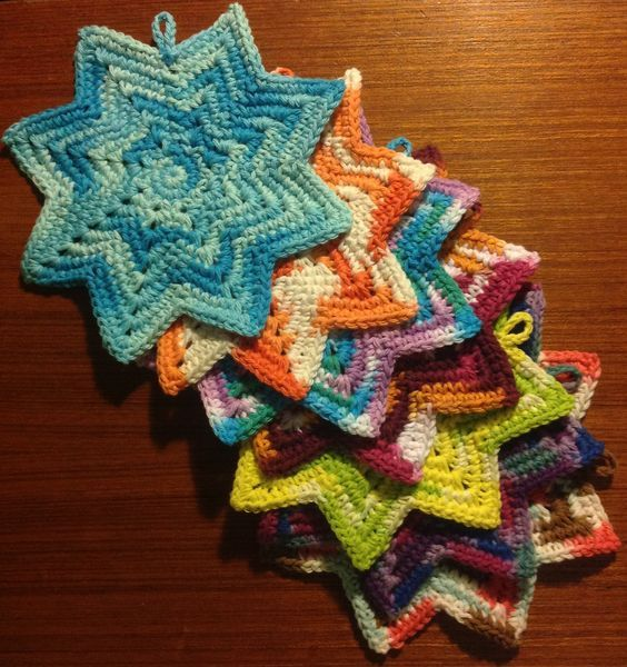 8 Point Round Dishcloth By Amelia Beebe - Free Crochet Pattern ...