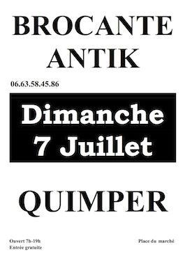 brocante Antik 2013 à Quimper. Le dimanche 7 juillet 2013 à Quimper.