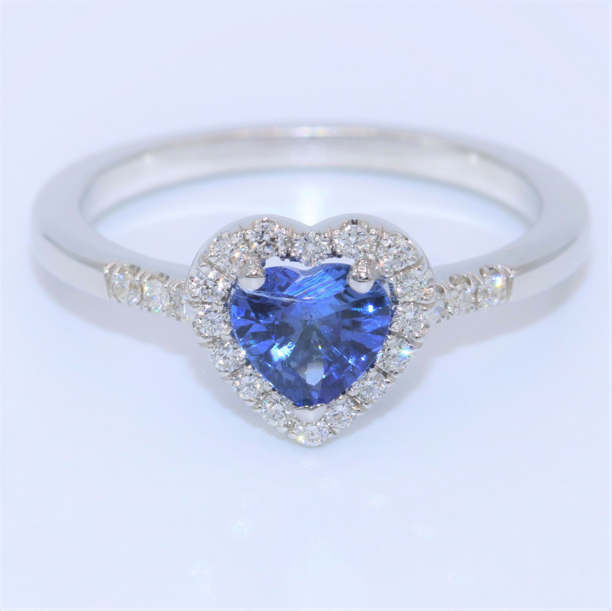Heart shape Blue Sapphire Ring Products Pinterest