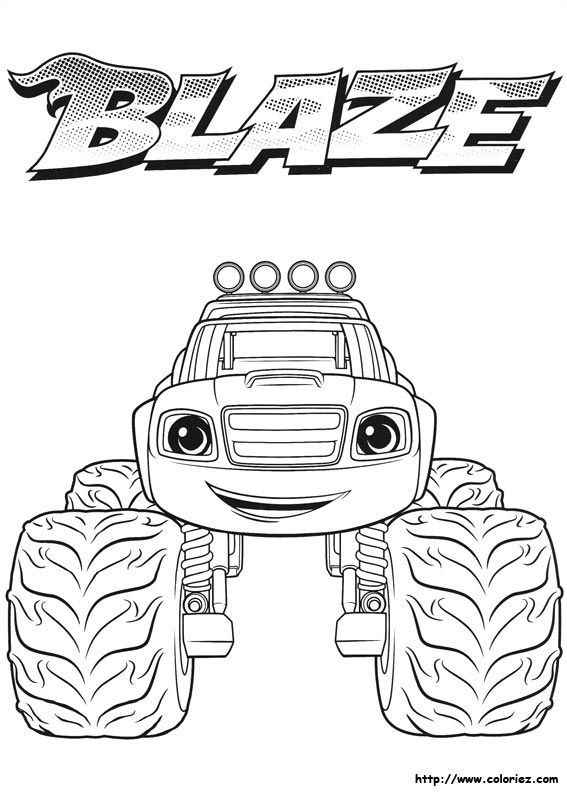 15 Réaliste Blaze Et Les Monster Machines Coloriage ...