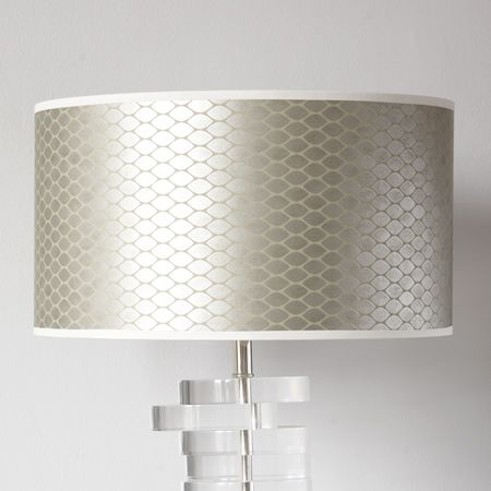 An Alternative To Actual Metallic Lamp Shade Silver Wallpaper