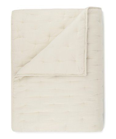 Cream Lofty Linen Blend Quilt By Ugg Other Colors