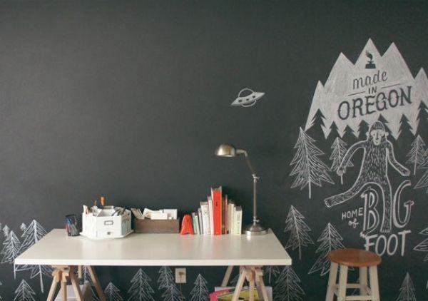 schwarze KeidetafelPlatz zum Malen und Schreiben im