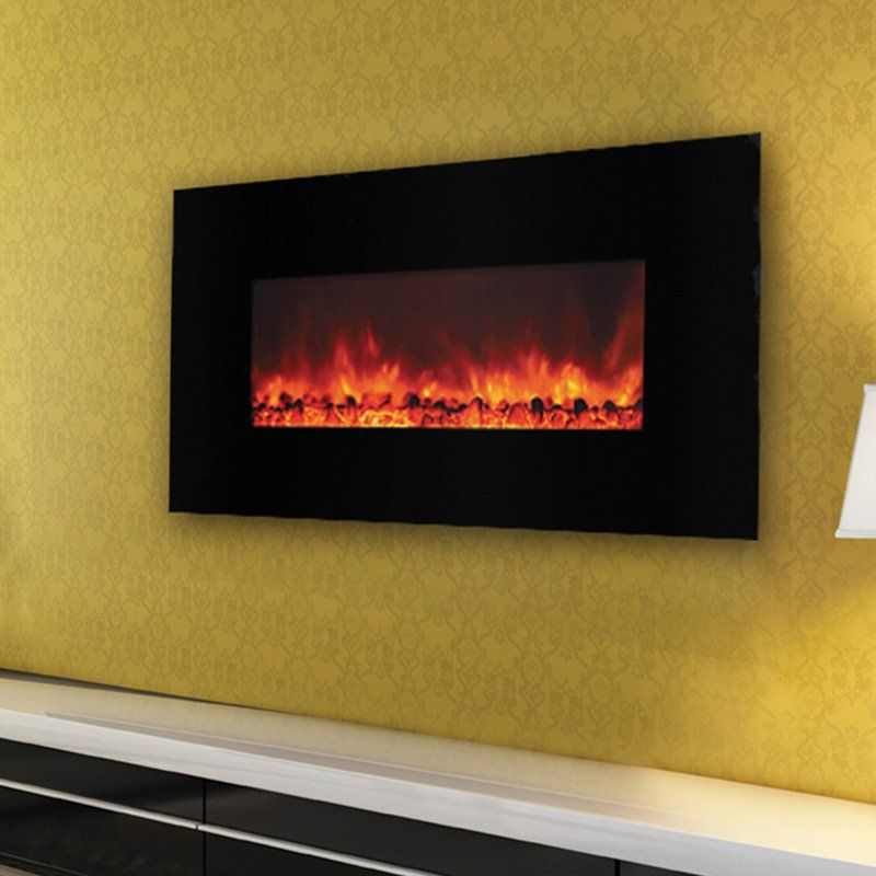 Yosemite Home Décor Carbon Flame 44 Wall Mount Electric Fireplace ...