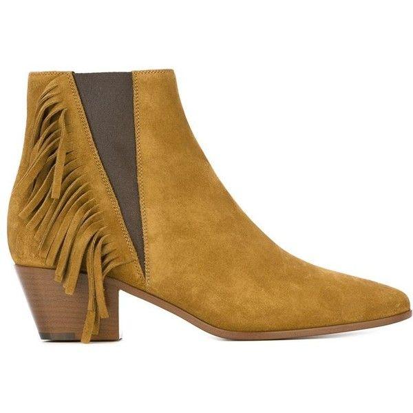 Saint Laurent Saint Laurent 'Wyatt' Chelsea Boots ($960) ❤ liked on Polyvore