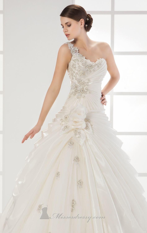 One strap wedding dress  Saboroma  by Saboroma Bridal  Wedding Dresses  Pinterest