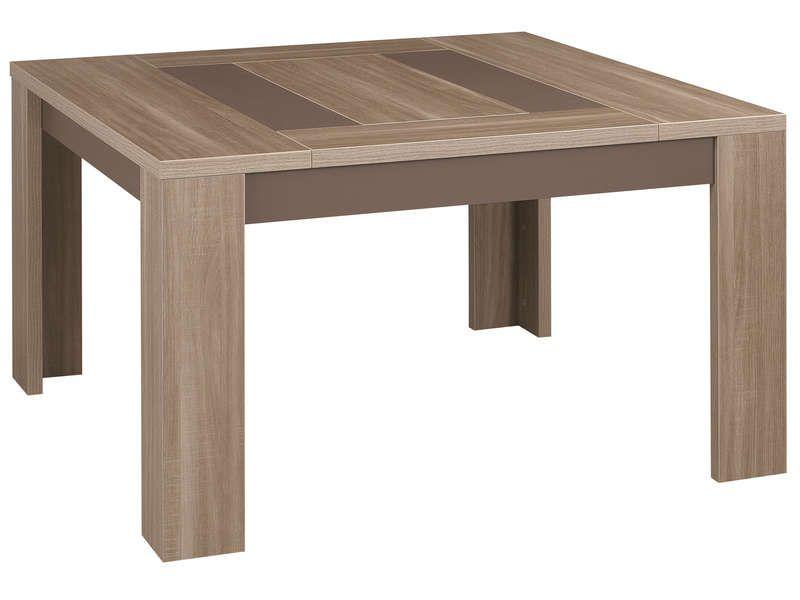Table Carree 130 Cm Atlanta Pas Cher Coloris Chene Fusain Prix Table Conforama 379 98 Ttc Au Lieu De 541 Table Salle A Manger Mobilier De Salon Table Carree