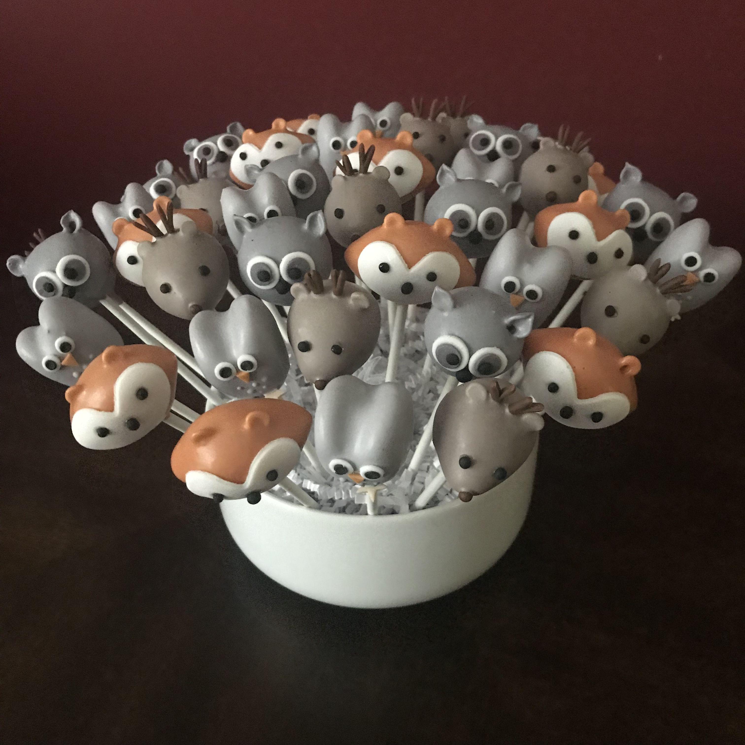 Woodland Animal Cake Pops by JamiesCakePops on Etsy ... |Woodland Cake Balls