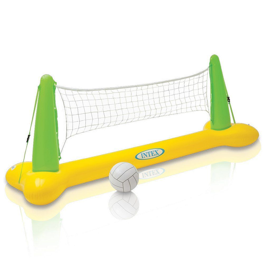 Intex Pool Volleyball Game For Pool Party Games And Summer Fun Swimming Pool Toys Volleyball Games Volleyball Set