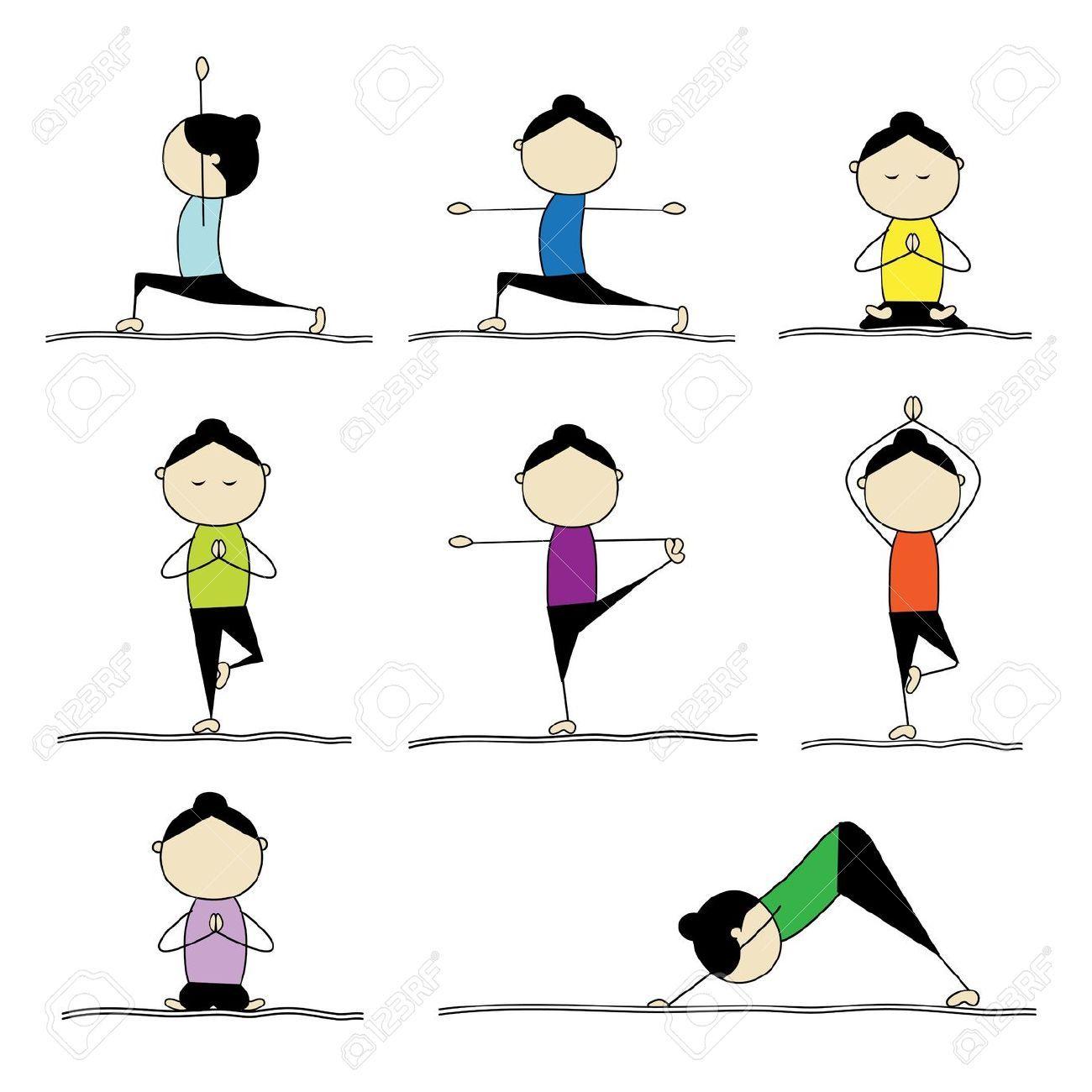 Kids Yoga Cartoon Yoga Para Criancas Yoga Ioga