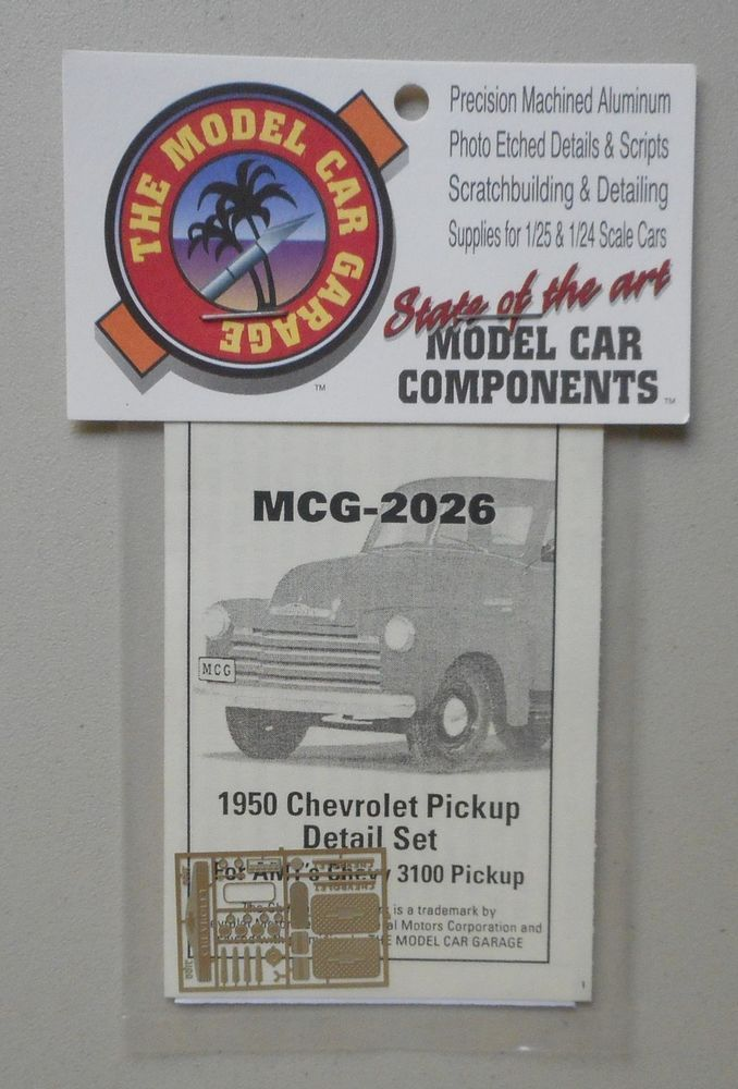 1950 Chevy Pickup Detail Set For Amt 1 24 1 25 Model Car Garage Accessory 2026 Garage Accessories Car Model Chevy Pickups