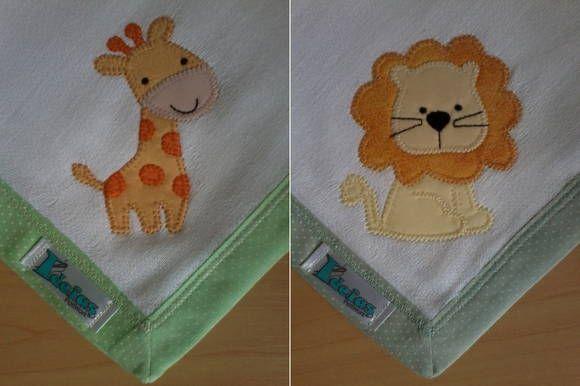 Kit Fralda de Boca com 02 unidades em tecido duplo (04 camadas para melhor absorção) 100% algodão com patch apliquée e bainha em tecido.  * As fraldinhas também podem ser personalizadas escolhendo o tema e a cor do tecido para montar o kit. R$ 24,90
