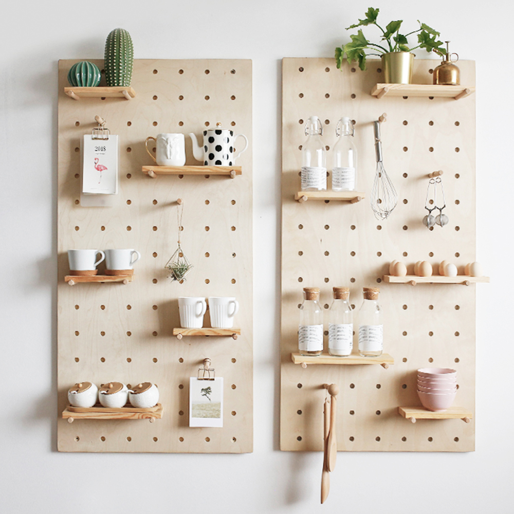 Perforated Board Pegboard Display Wooden Pegboard Expand Paper Furniture Supplier Paper Stool Paper Helme In 2020 Wooden Pegboard Pegboard Display Paper Furniture