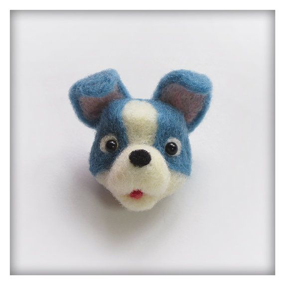 Puppy - Brooch - Needle Felted - Wearable Art - Collectible - Soft Sculpture - one-of-a-kind - OOAK
