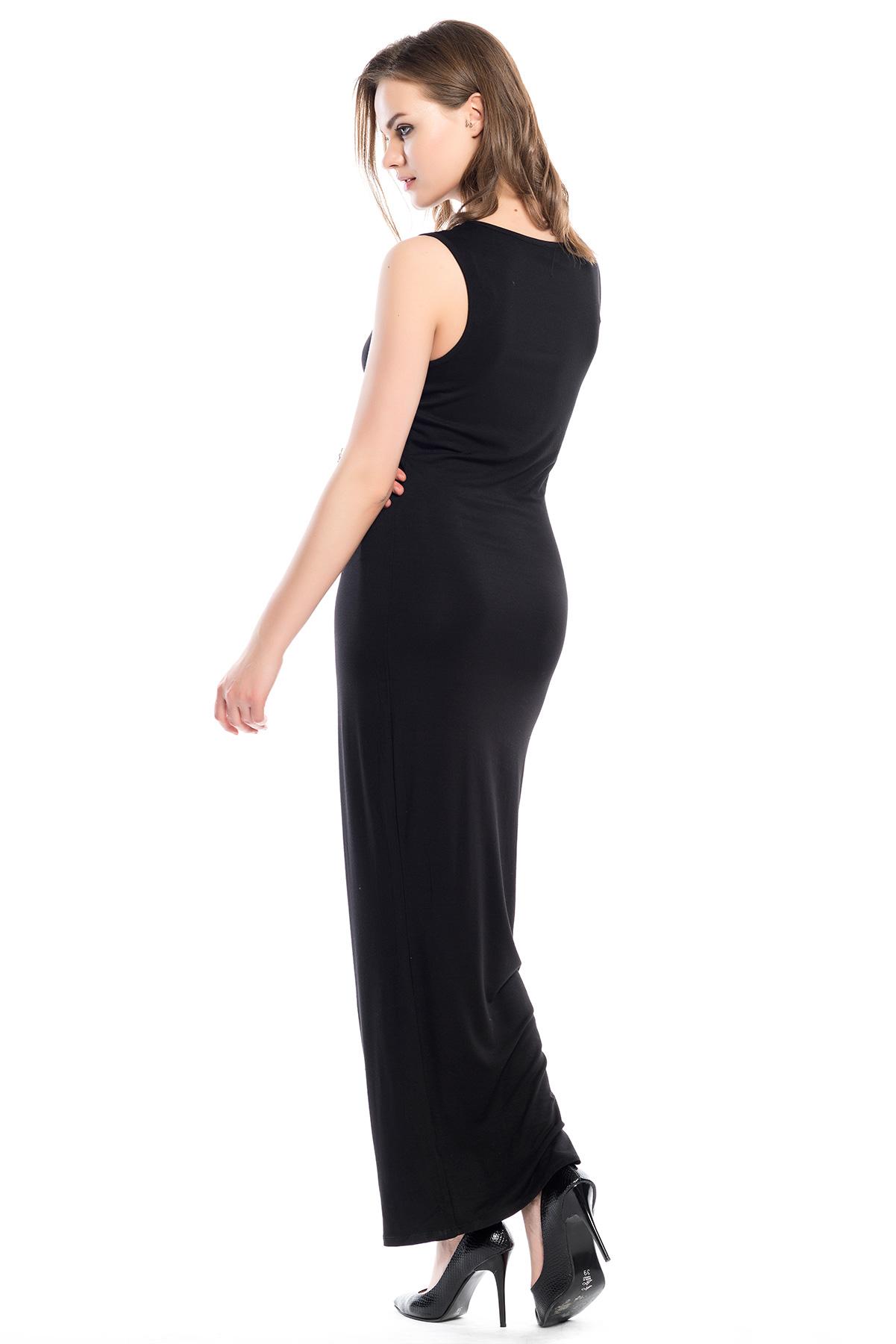 Ironi Noughts Tul Seritli Penye Elbise Elbise Siyah Kisa Elbise Giyim