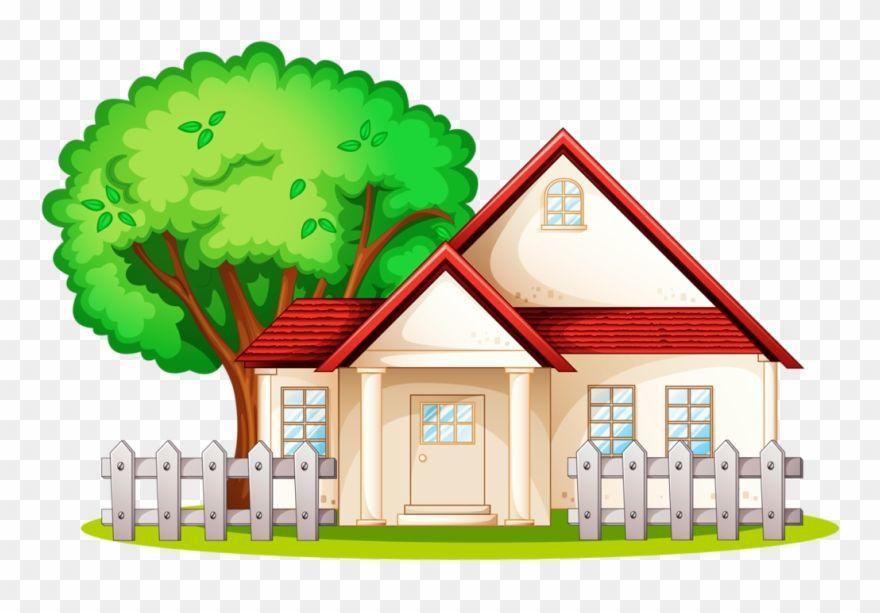Fotki House Clipart Clipart Images Household Items Neighborhood House Cartoon Png Download Lukisan Rumah Latar Belakang Gambar