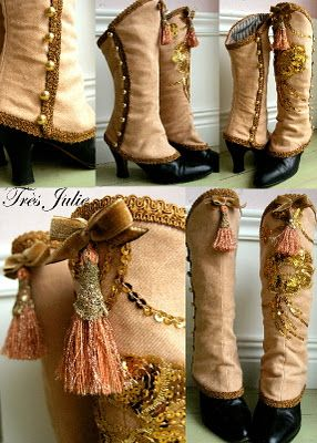 Spats by Très Julie. Spats are a great way to turn high heels into boots, which is good when travelling and have limited space for shoes.