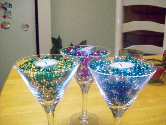 mardi gras table decorations centerpieces | share on tumblr