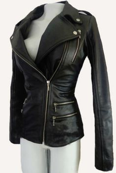 Black Leather Jacket Womens Sale | Jackets Review