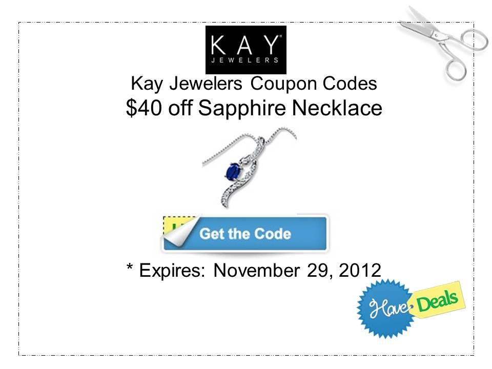 40 Off Sapphire Necklace With Kay Jewelers Coupon Code Dontwaitforblackfriday Shopping Hacks Sapphire Necklace Coupon Codes