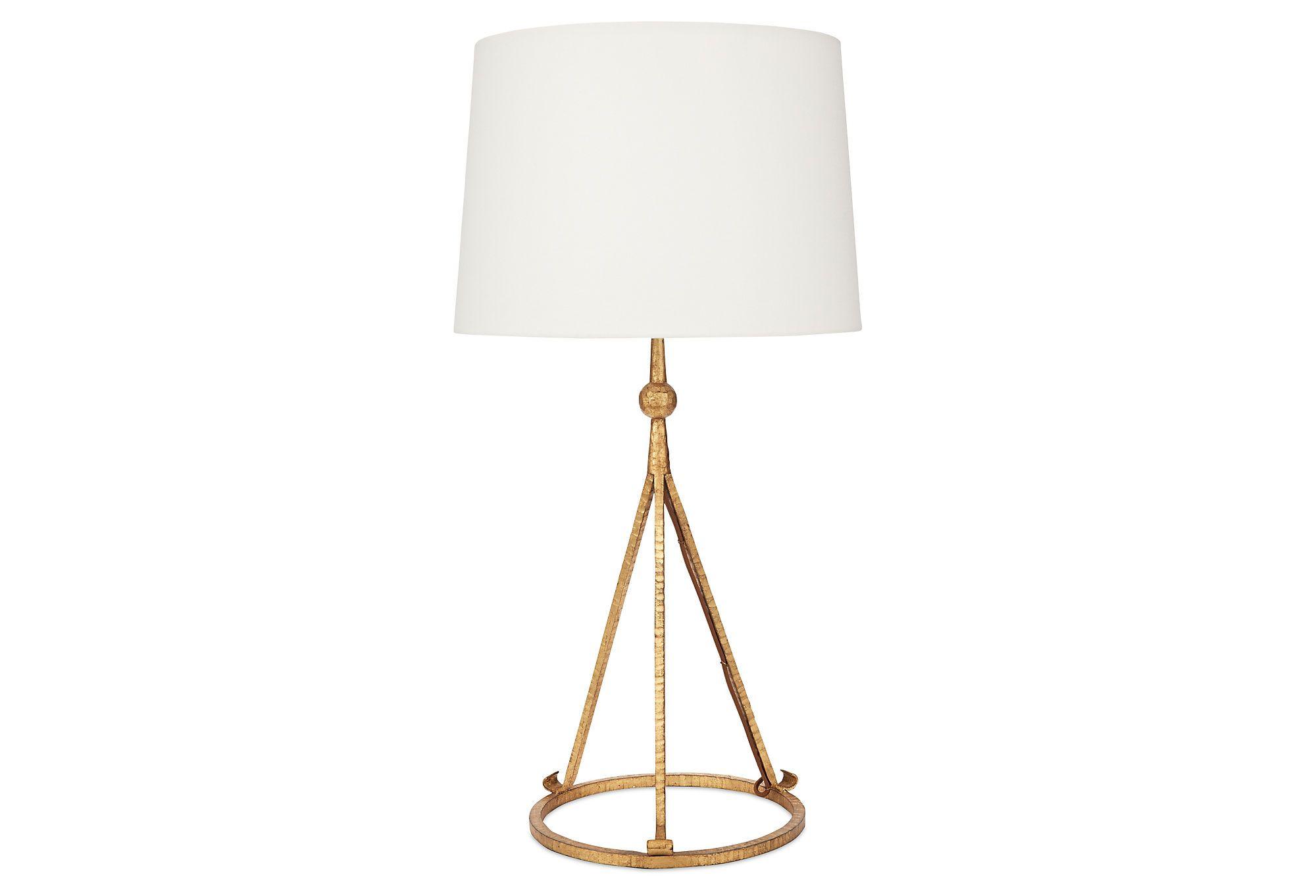Celia Tripod Table Lamp, Gold One Kings Lane Tripod