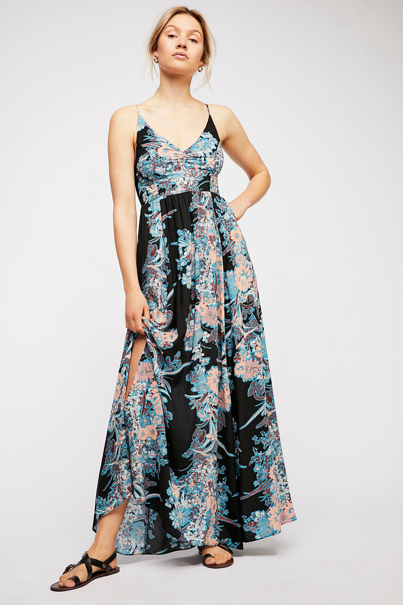 3d0e39066a82 Free People Through The Vine Printed Slip - Maize Combo L