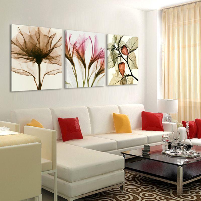 Sin marco 3 paneles lienzo de pintura moderna en la pared for Figuras decorativas modernas salon