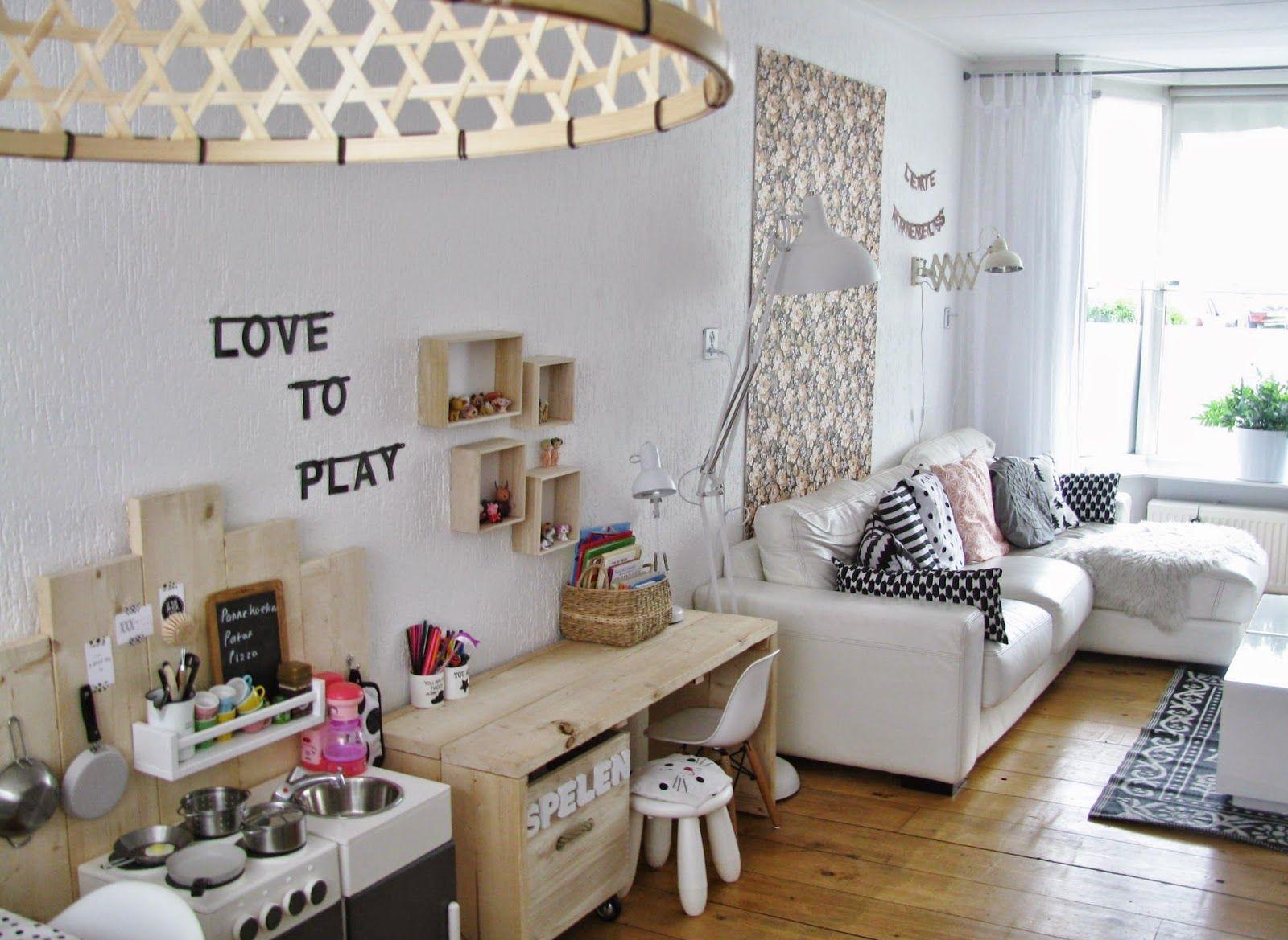 & \'n toefje kleur: Stoere speelplek in de woonkamer | Leuke ideeën ...