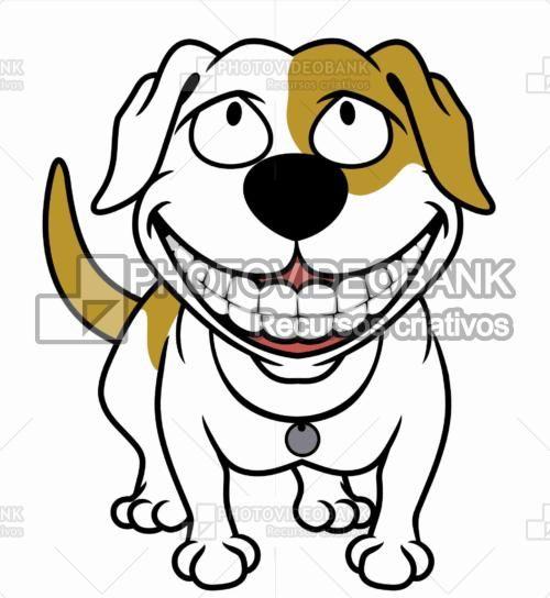 cão feliz cachorro cão dentes desenho felicidade imagem