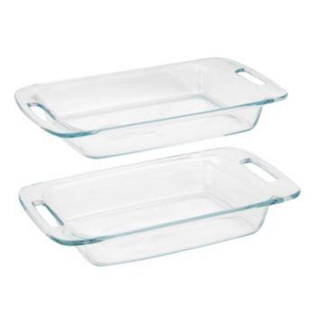 Pyrex Easy Grab 2 Pc Baking Dish Set Pyrex Ceramic Baking Dish