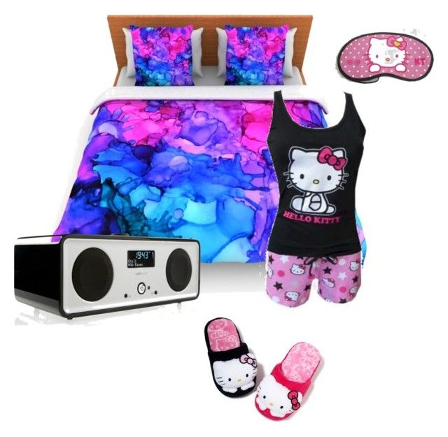"""Night People <3"" by taylorr143 ❤ liked on Polyvore featuring Ruark Audio, Hello Kitty, women's clothing, women, female, woman, misses and juniors"