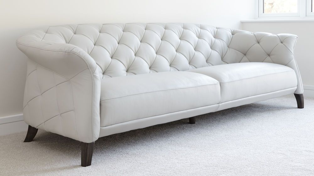 Luxe Modern Large 3 Seater Leather Chesterfield Sofa Sofa Bed
