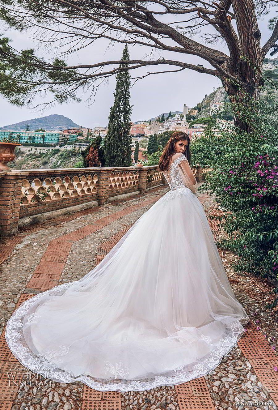 2585bf1c9062 Weddinginspirasi.com featuring - anna sposa 2019 bridal long bishop sleeves  illusion bateau sweetheart neckline heavily embellished bodice romantic  princess ...