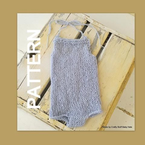 Newborn Baby Romper Knitting Pattern Summer Baby Romper Knitting