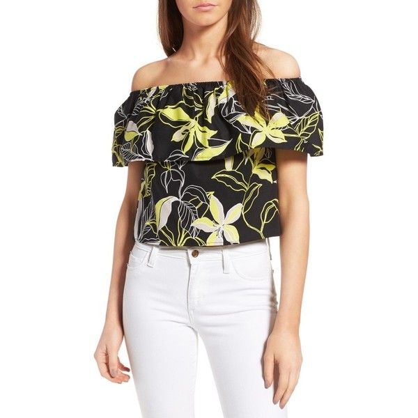 2249044a28a37 Women s Splendid Tropic Floral Print Off The Shoulder Top ( 98) ❤ liked on  Polyvore