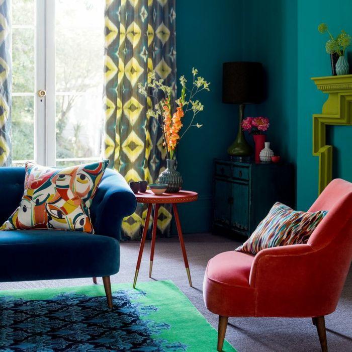 1001 ideas sobre colores para salones y c mo pintar la sala de estar salones turquesa y - Pinturas para salones pequenos ...