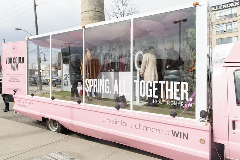 26a59e6f9d0b HOLT RENFREW HITS THE ROAD WITH A POP-UP TRUCK The retailer takes its  in-store experience on tour with its