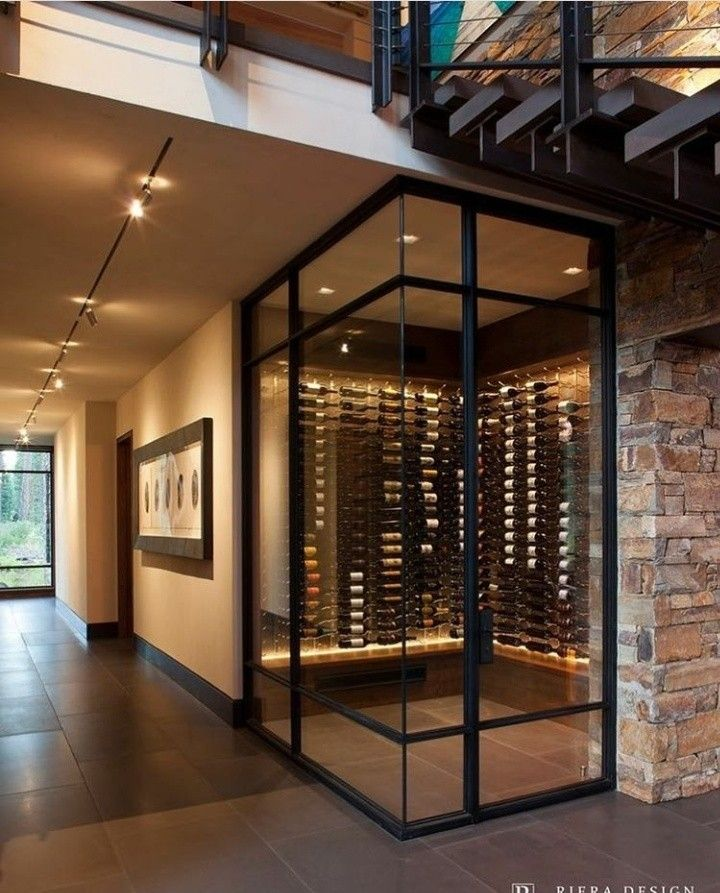 Wine Cellar Modern Home Interior Design Modern Mountain Home