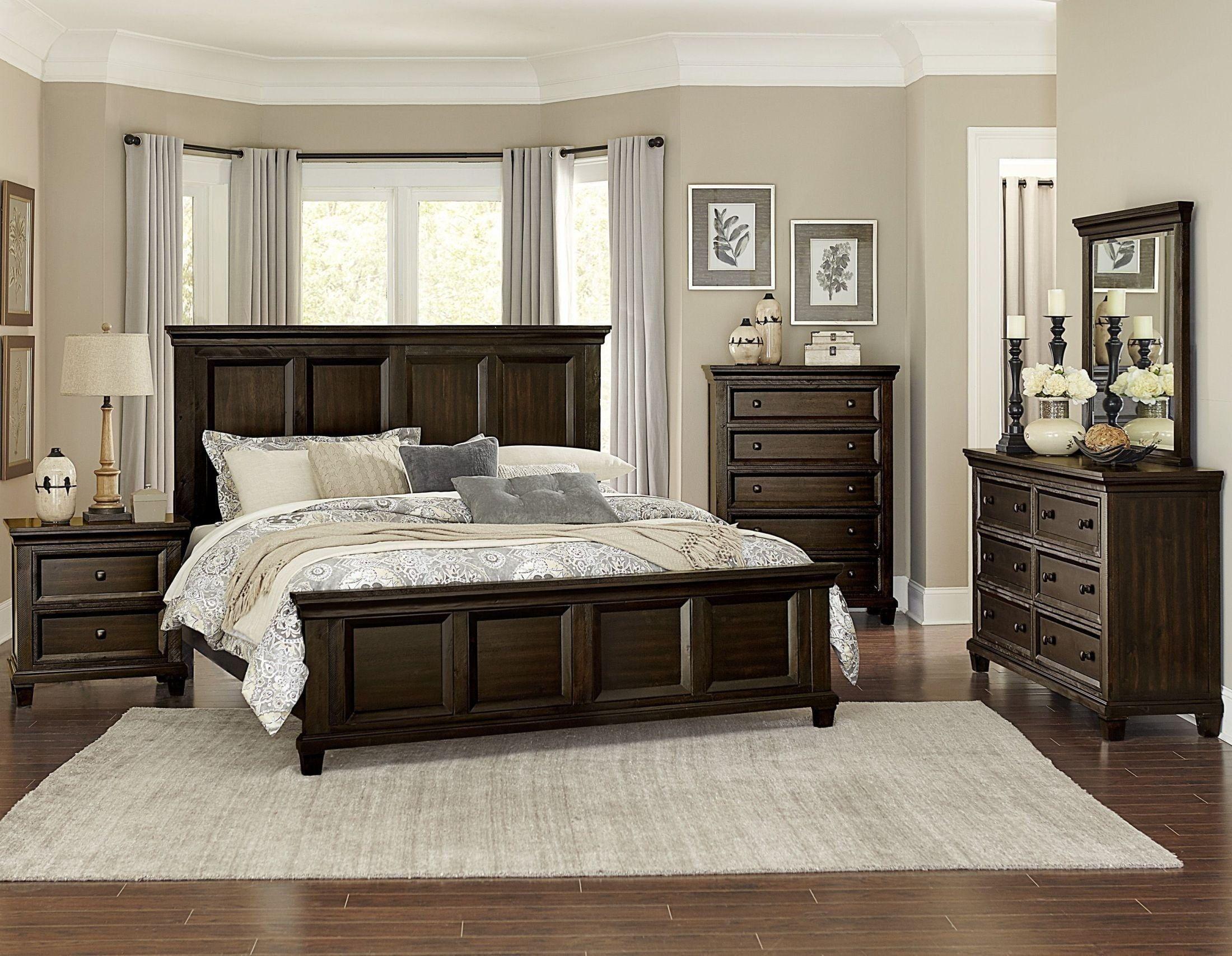 Birman Dark Espresso Queen Panel Bed in 2019   Bedroom ...