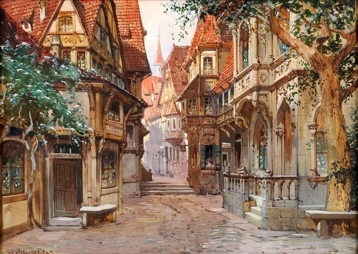 картинки старый город средневековья готов