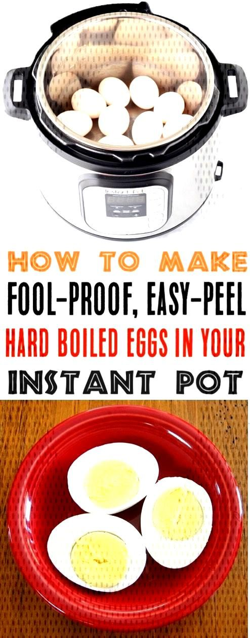Instant Pot Hard Boiled Eggs! This Easy Peel Pressure Cooker Dozen Recipe is perfect for breakfast,